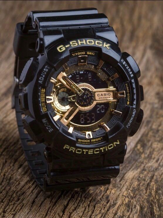 26a88323a68 Relógio Masculino G-shok Casio Prova D água Preto Ga-110 - R  120