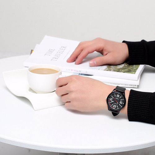 relógio masculino gaiety pulseira de couro frete grátis