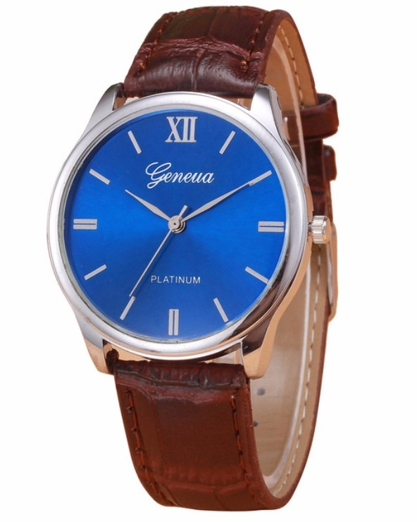 a0955a424f2 Relógio Masculino Geneva Original Social Couro Platlnum - R  74