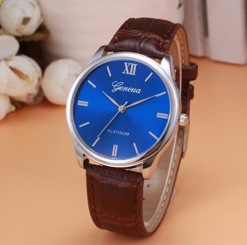 a509db37e5d Relógio Masculino Geneva Original Social Couro Platlnum - R  29