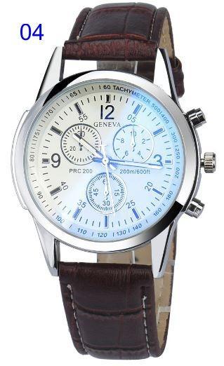 91f6aa5a8b0 Relógio Masculino Geneva Pulseira De Couro Social Cód.135 - R  24