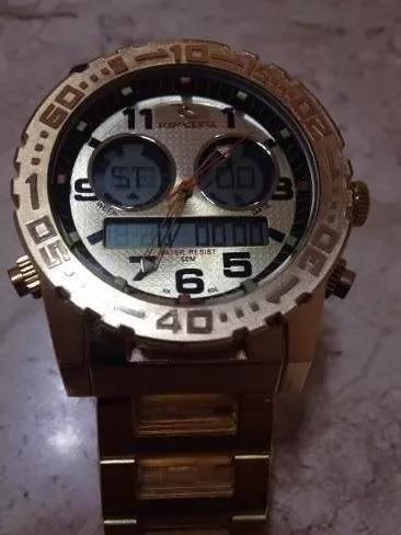 e2ab380bf3b Relogio Masculino Gold Atlantis Ripcurl A3228 Todo Dourado - R  89 ...
