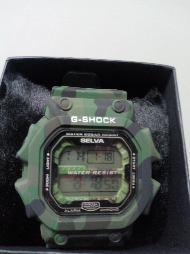 a3324b98b1a relógio masculino gshock revenda promoção camuflado exercito. Carregando  zoom.