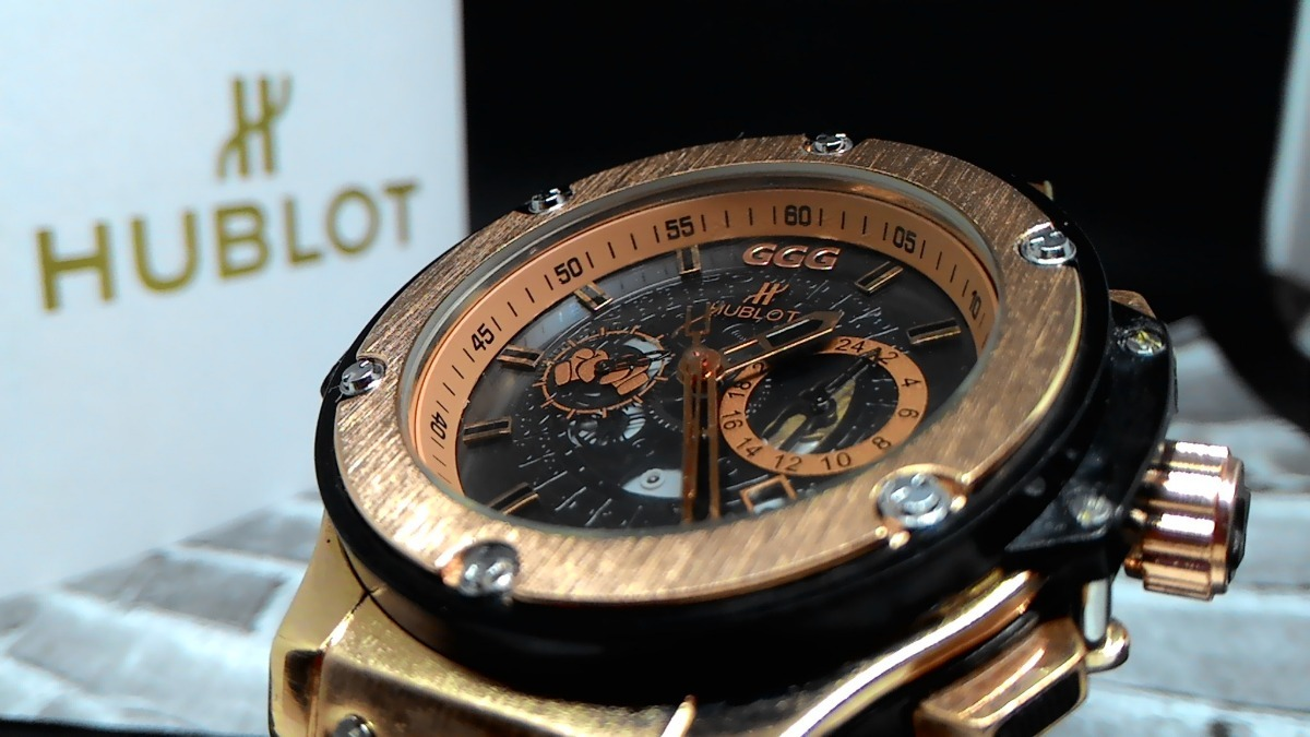 9adc7f9de70 relógio masculino hublot geneve big bang  ggg top. Carregando zoom.