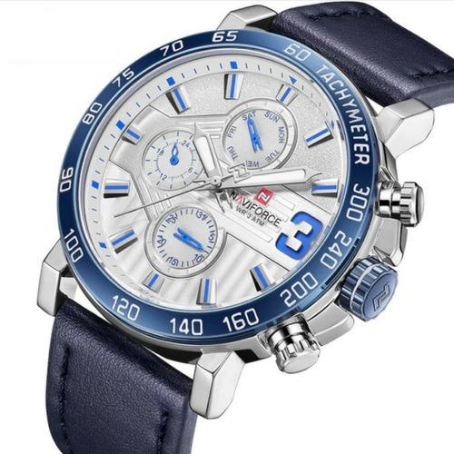 relógio masculino importado analógico couro legítimo barato