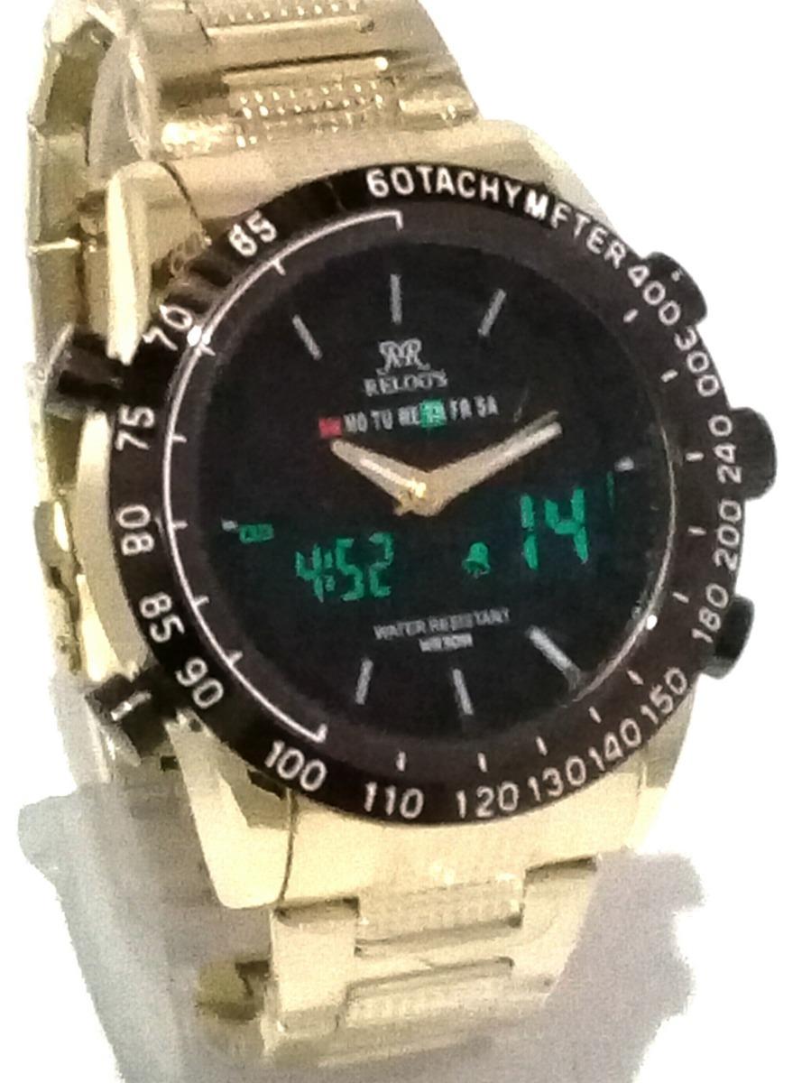 a49440adec4 relógio masculino importado dourado a prova d agua barato. Carregando zoom.