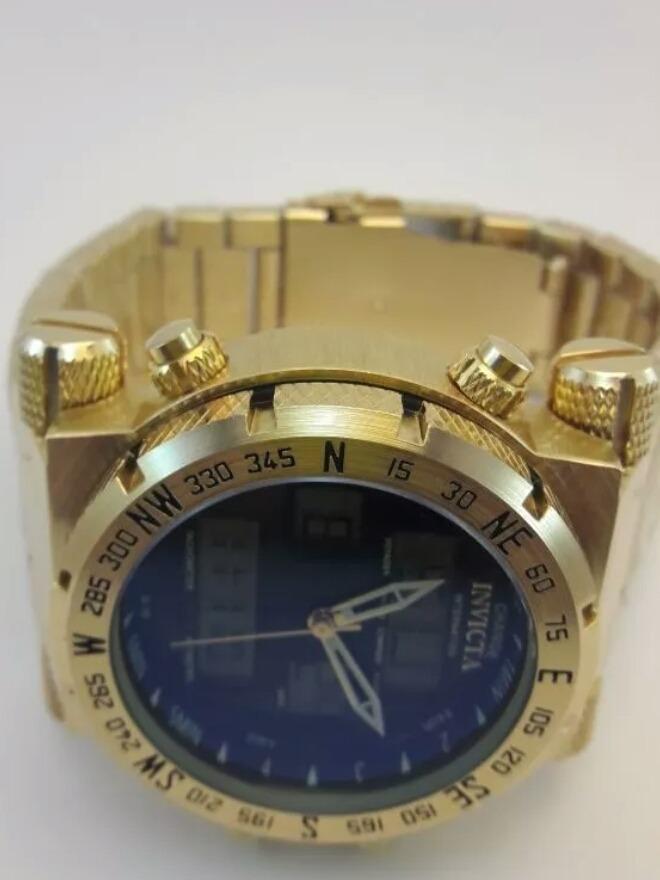 471e64e9cfd Carregando zoom... 4 invicta ouro relógio masculino barato digital pulseira  luxo