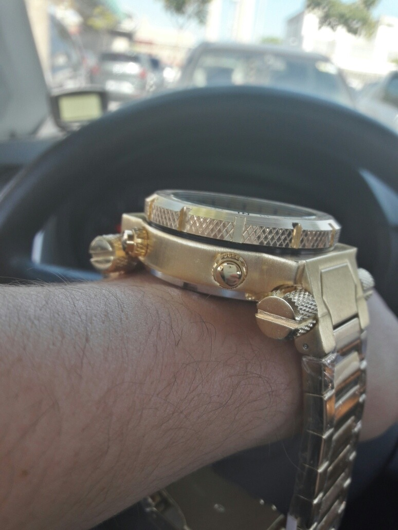 f081f3b1db8 Carregando zoom... invicta relógio masculino barato digital f. dourado  pulseira