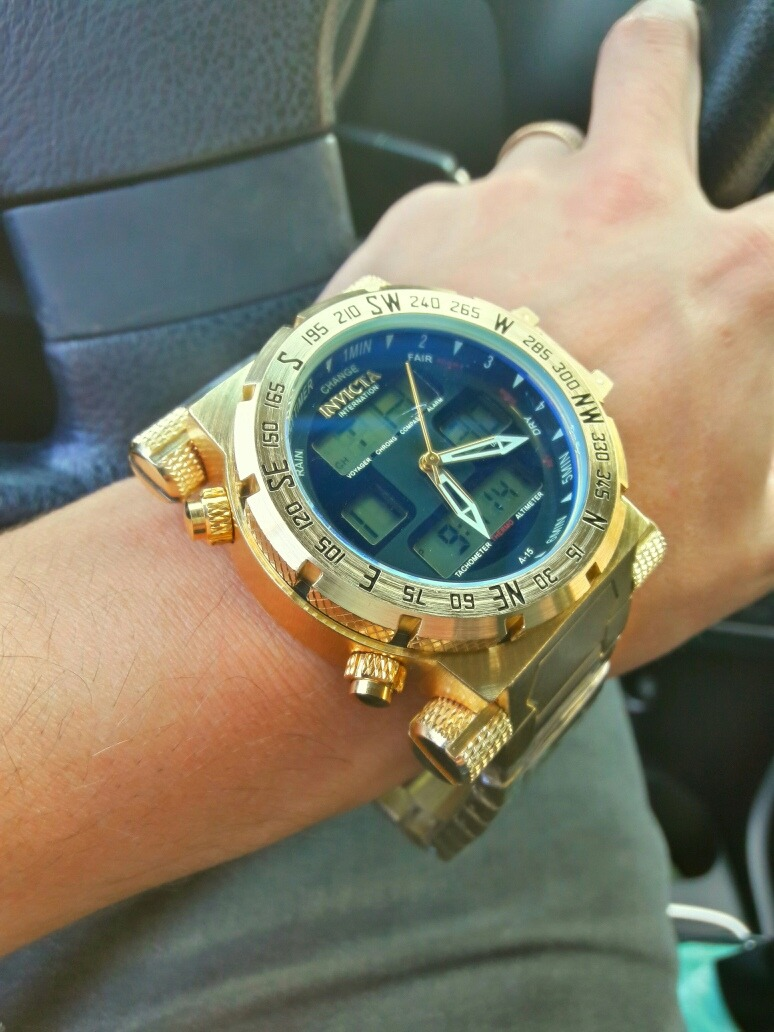 2c1483a6146 Carregando zoom... invicta ouro relógio masculino barato digital pulseira  luxo