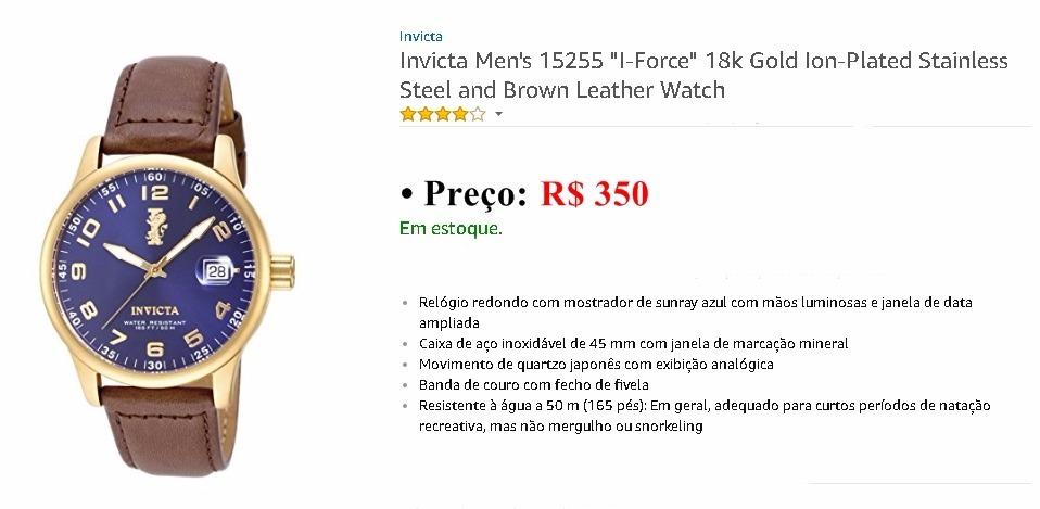 2f0dbb44c51 Relógio Masculino Invicta I-force Original - R  350