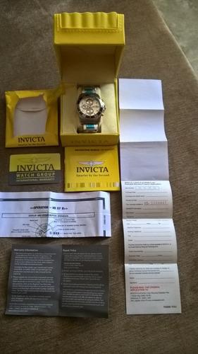 relógio masculino invicta mod.17014. produto original.