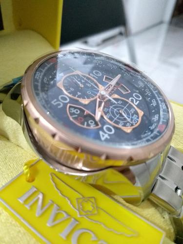 relógio masculino invicta - modelo aviator 17203