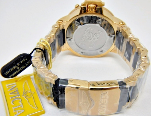relogio masculino invicta original subaqua ouro dourado pret
