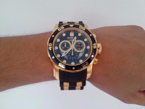 92a94084e05 Relógio Masculino Invicta Pro Diver 6981 Dourado preto B18 - R  592 ...