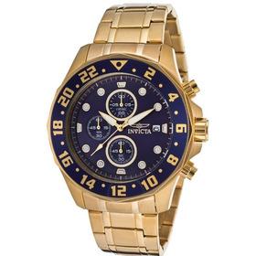 Relógio Masculino Invicta Specialty 15942 Banhado A Ouro 18k