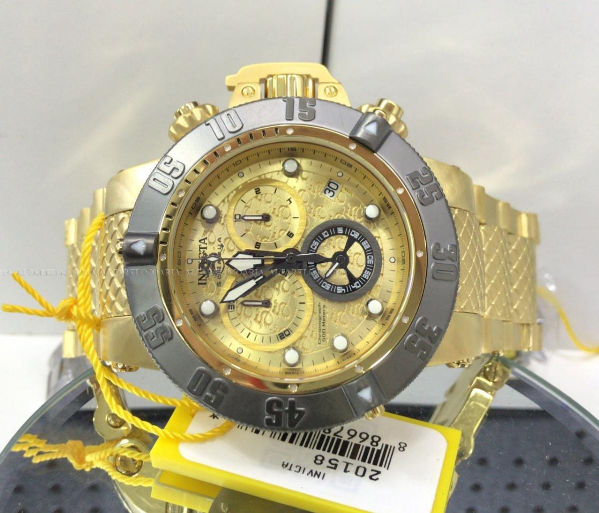 5637167bbd8 relógio masculino invicta subaqua 20158 plaque ouro suíço. Carregando zoom.