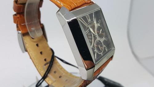 relógio masculino italiano police pl10966ms/12 quadrado