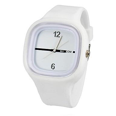 d93c2fc119c Relógio Masculino Jelly Ss.com Branco Pulseira Silicone - R  29