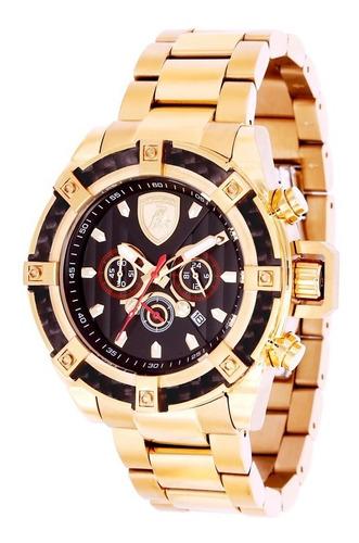 relógio masculino lamborghini lb90023665m  coleção aventador
