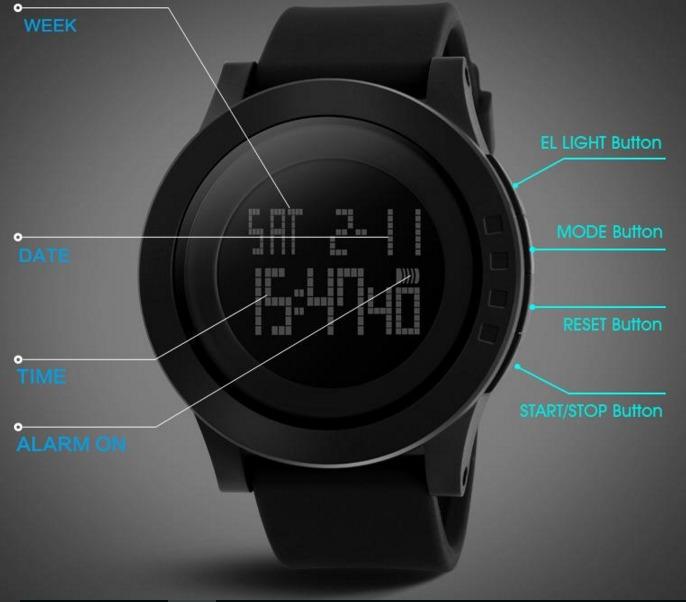 943ed937eee Relógio Masculino Led Digital Esporte Kit 2 Skmei 1142 - R  127
