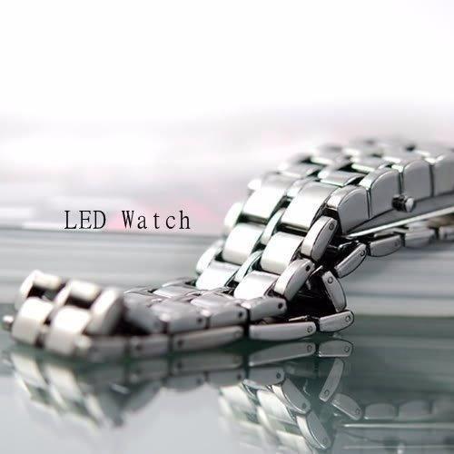 relógio masculino led iron samurai pulseira aço inoxidavel