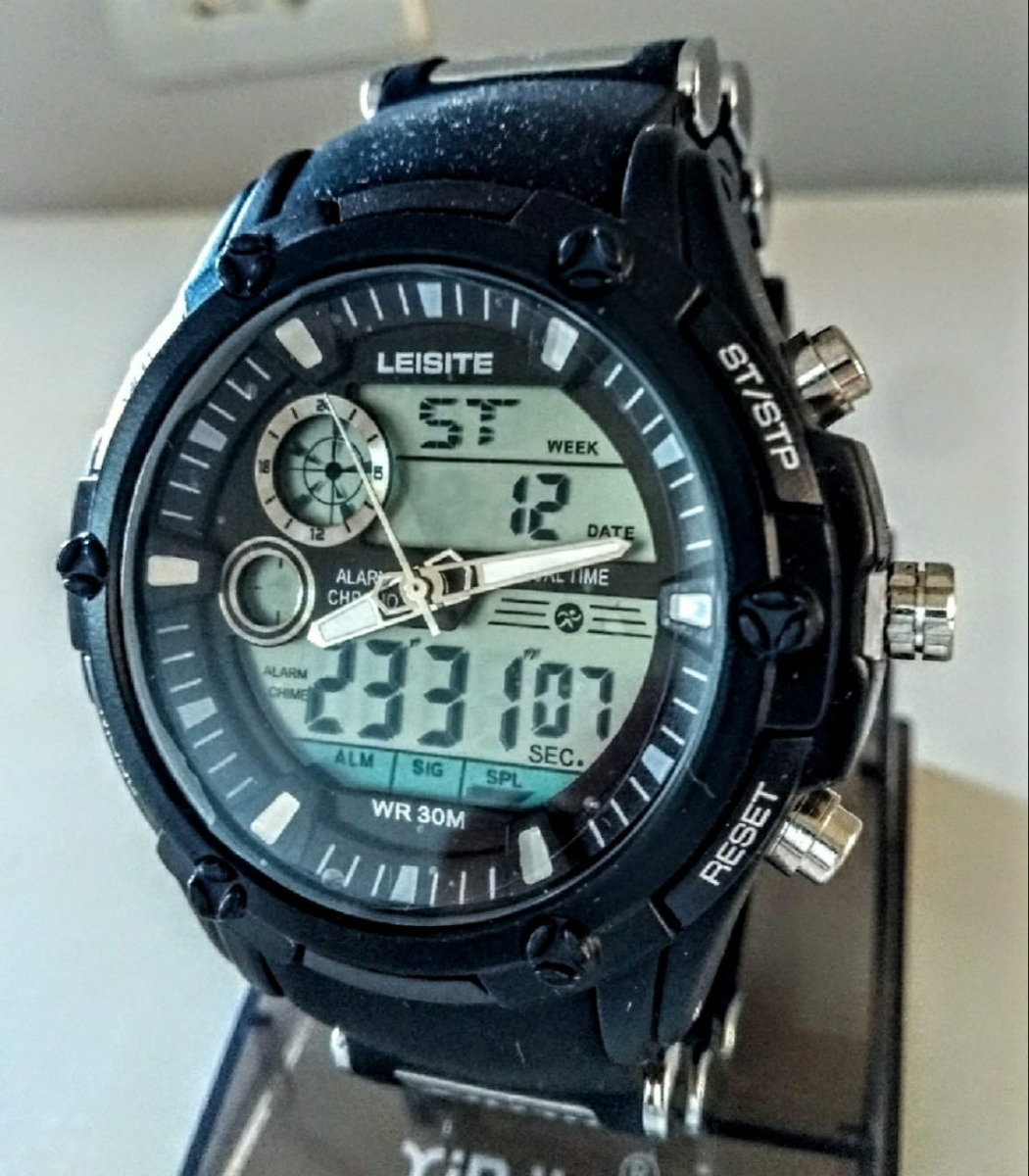 c3b44937007 relógio masculino leisite grande militar prova dágua barato. Carregando  zoom.