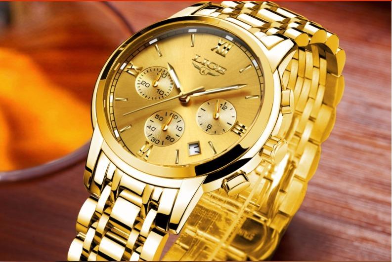 2d279b255 Relógio Masculino Lige Original Promoção-frete Grátis+brinde - R$ 178,90 em  Mercado Livre
