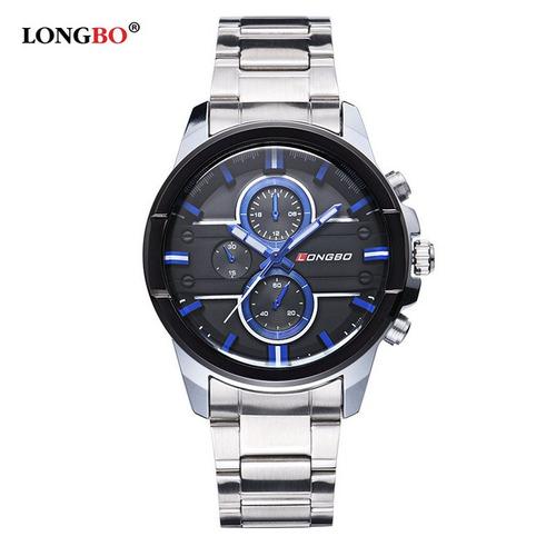 relógio masculino longbo de luxo estilo militar
