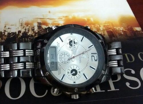 relógio masculino luxo bonito moderno resistente e barato
