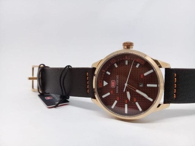 097a18f9081 Relógio Masculino Luxo Castanho Dourado Original Analógico - R  124 ...