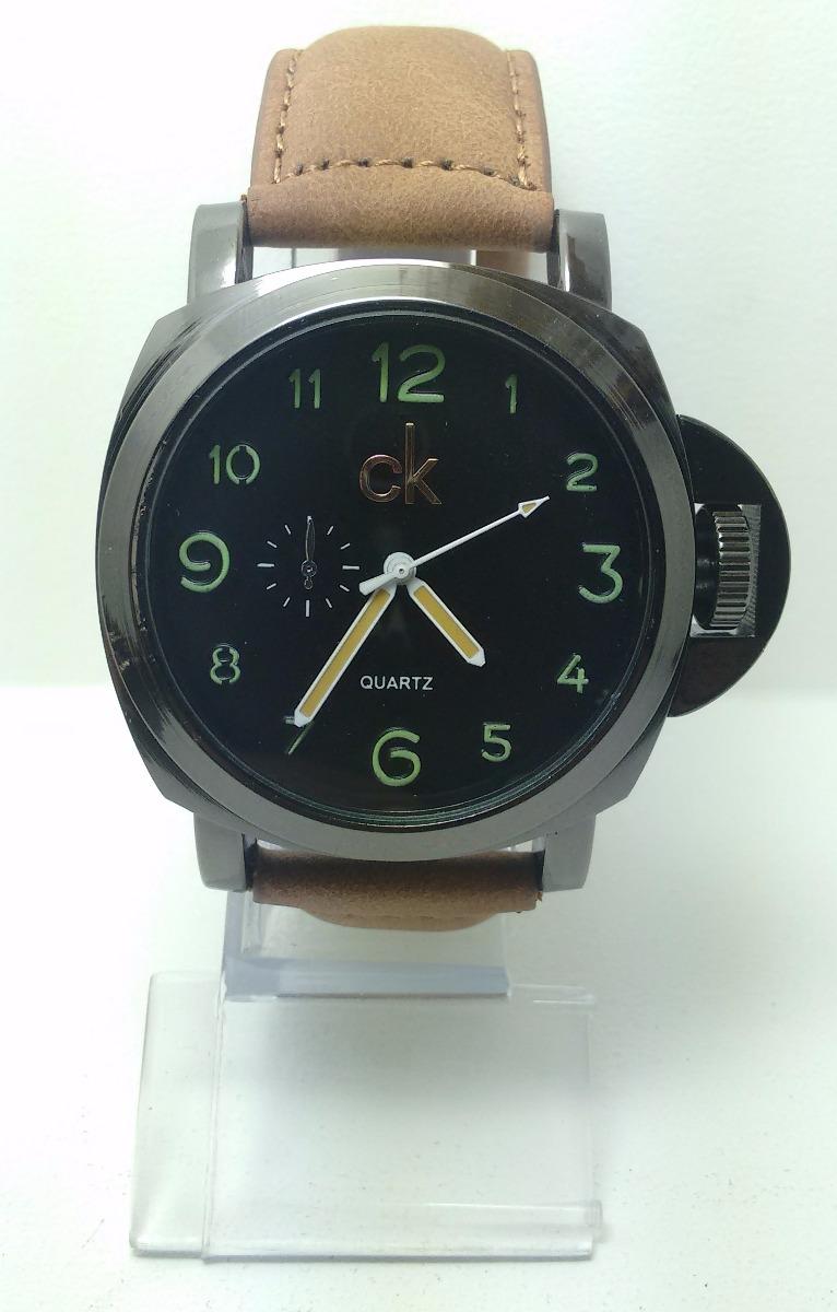 427ed62b3abe0 relógio masculino luxo ck pulseira couro social bonito rc1. Carregando zoom.