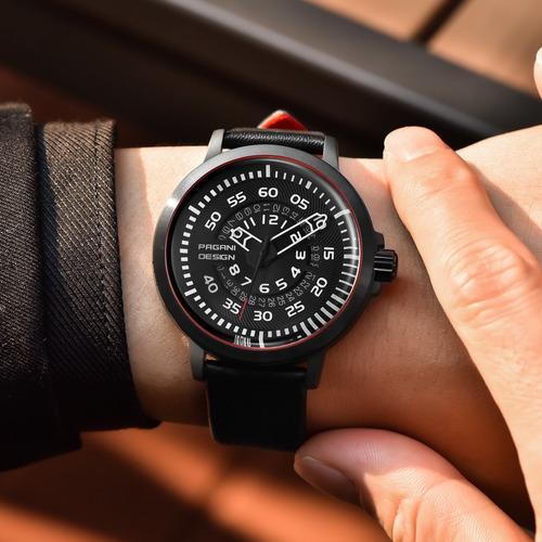 relógio masculino luxo clássico pagani design prova d' água