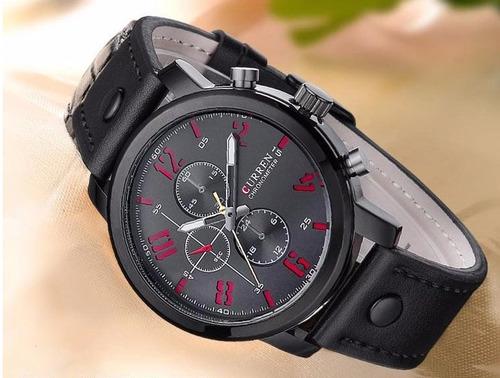 relógio masculino luxo curren à prova d'água