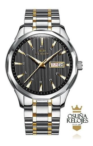 relógio masculino luxo original dourado prata pronta entrega