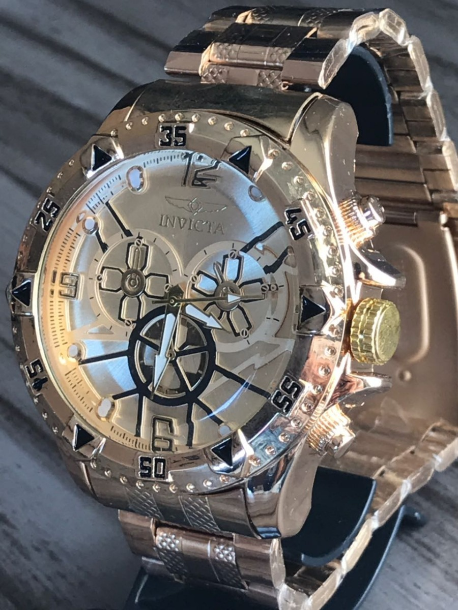 62aac160e30 Relogio Masculino Luxo Prata Dourado Importado Relógio Top ! - R ...