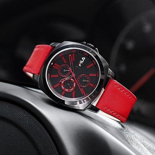 relógio masculino luxo preto fila a prova d'água