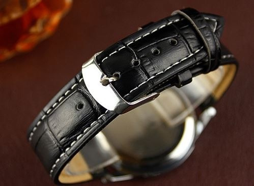 relógio masculino luxo pulseira couro com caixa