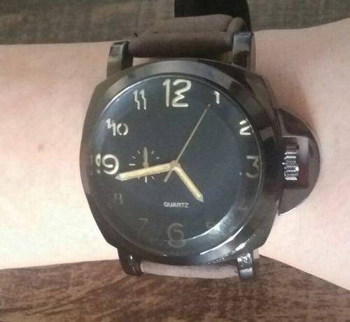 relógio masculino luxo  pulso social pulseira couro