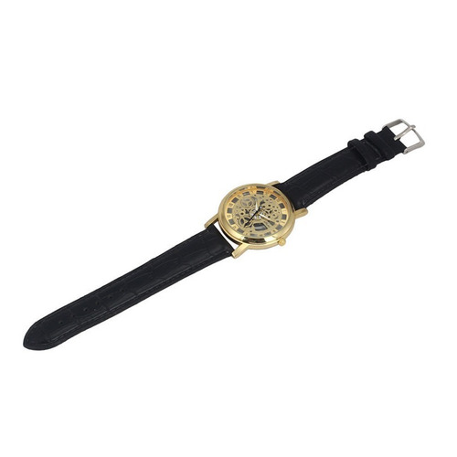 relógio masculino luxo quartz esqueleto frete grátis #3
