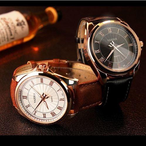522883f542e Relógio Masculino Luxo Romanos Couro Pu 336 - R  105