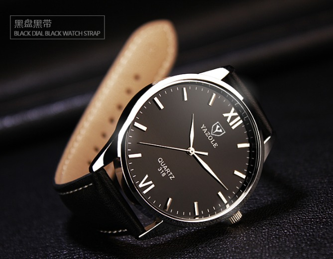 2644d322097 Relógio Masculino Luxo Yazole Couro Sintético 318 - R  49
