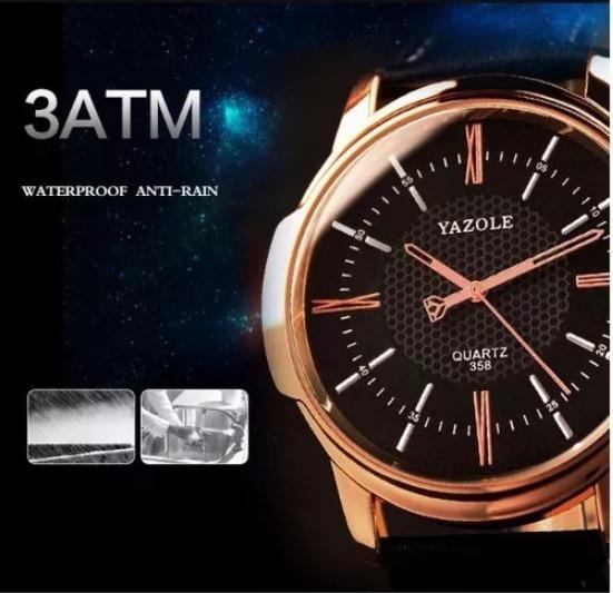 96f701be875 Relógio Masculino Luxo Yazole Couro Sintético 318 - R  54