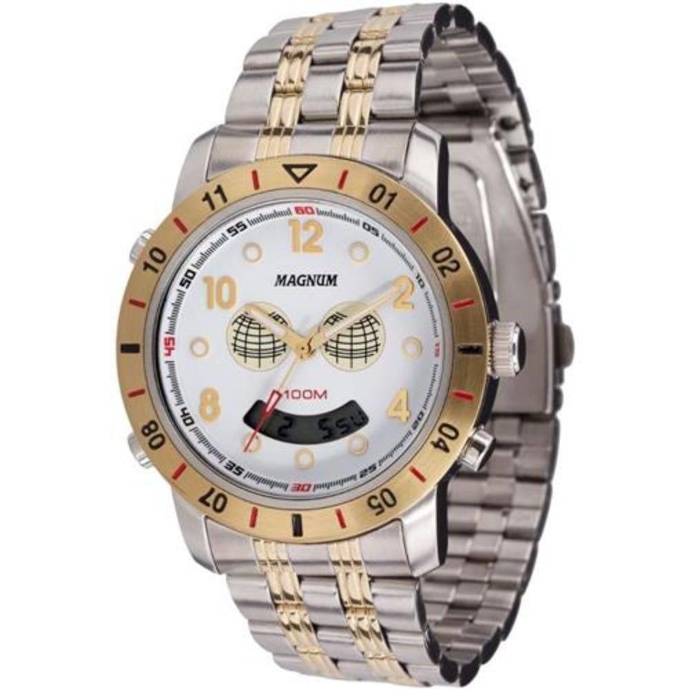 860bfb618b8 Relógio Masculino Magnum Globinho Ma10734b Prata - R  319