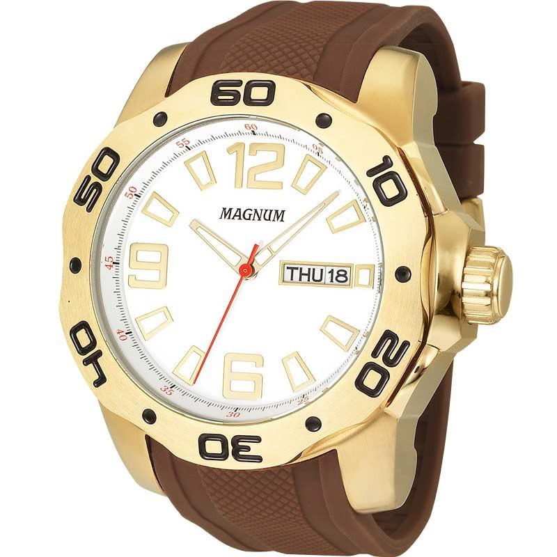 78ea0fae237 relógio masculino magnum ma31891b original pulseira silicone. Carregando  zoom.