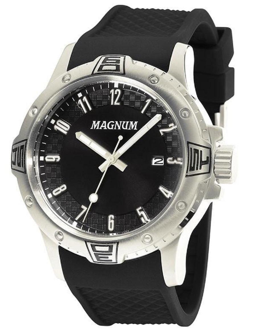 a561f7d49 relogio masculino magnum pulseira borracha ma34414t oferta. Carregando zoom.