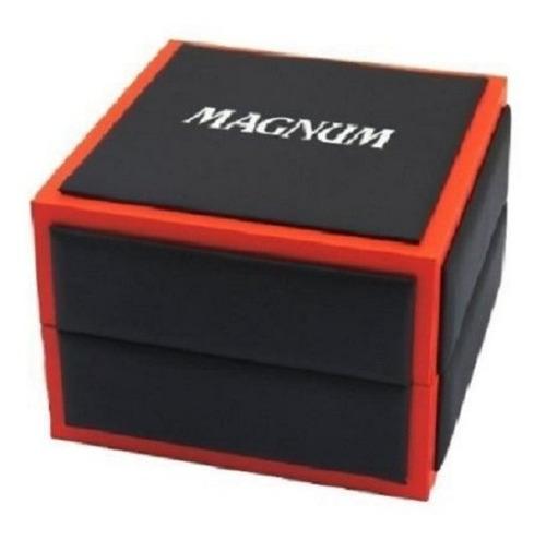 relogio masculino magnum pulseira couro ma33399z oferta