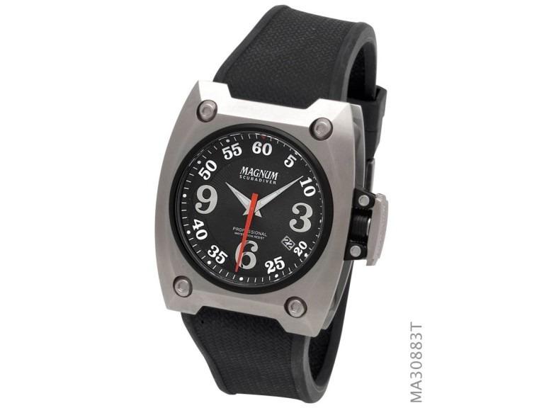 5ee43cb6fad Relógio Masculino Magnum Scubadiver Ma30883t Mergulho C  Nf - R  520 ...