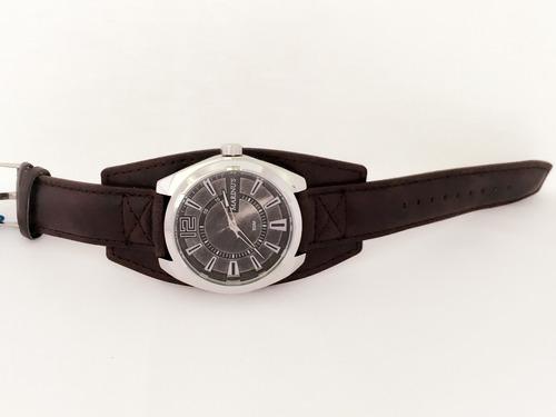 relógio masculino marinus bracelete de couro frente grátis