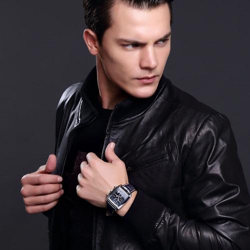 relógio masculino megir 2028 cronográfo original