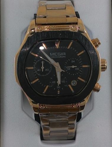 relógio masculino megir 3014 original + frete gratis